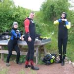 Sywal, Matze und Kay beim Anziehen ...