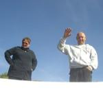 Piet und Uta verabschieden Tine zum Tauchgang