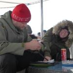 Marcus und Franzi beim Logbuchschreiben
