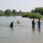 Säuberungsaktion des Ufers